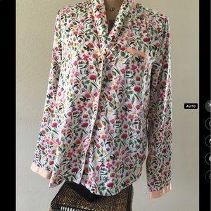 E by Eloise/ Anthropologie floral sleep shirt ⛰🌘